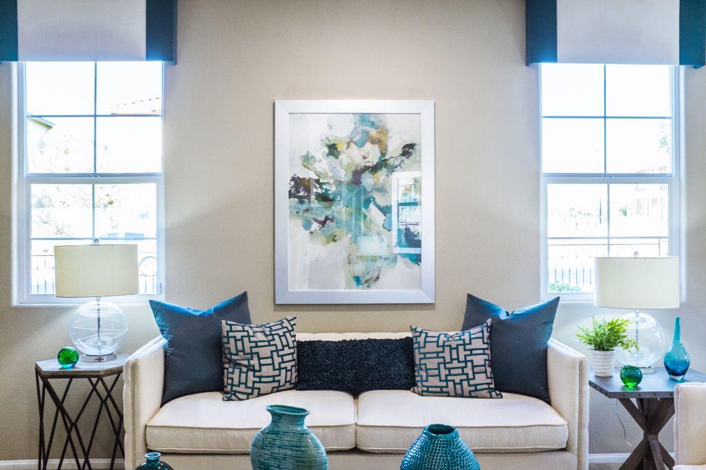 apartamento decorado, apartamento na planta